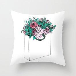 Flower Bag Throw Pillow