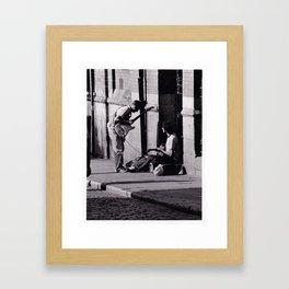 Busking Makes Me Feel Good Framed Art Print