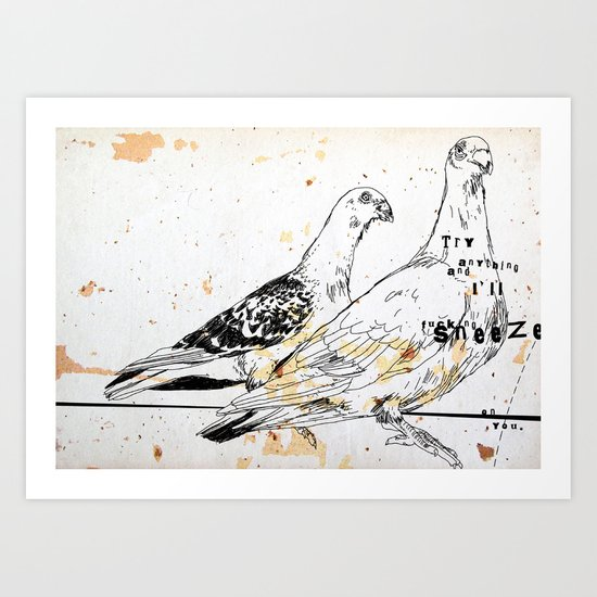 Bird flu Art Print