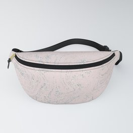 Blush pink elegant silver glitter abstract marble Fanny Pack
