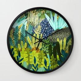 Wild Jungle || #illustration #painting Wall Clock