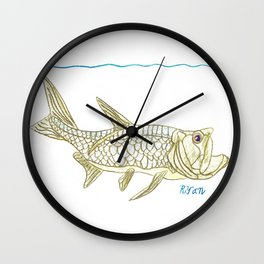 Key West Tarpon II Wall Clock
