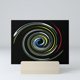Colorful spirals Mini Art Print