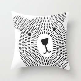 Mr. Bear Throw Pillow
