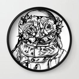 Head On The Moon Wall Clock