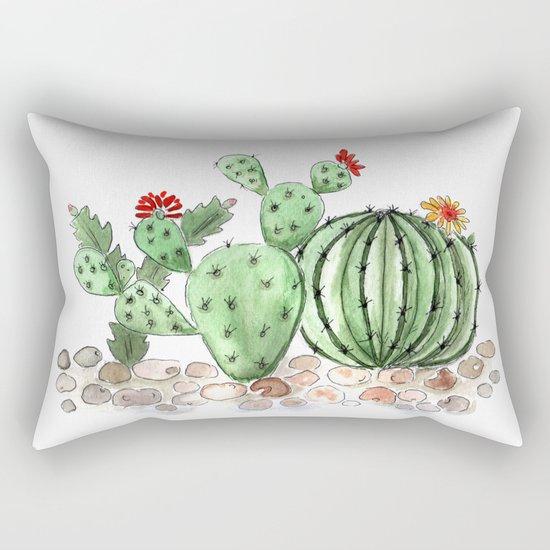 Cactus watercolor illustration Rectangular Pillow