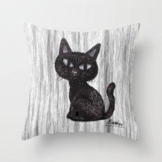 BLACK CAT 2 Throw Pillow