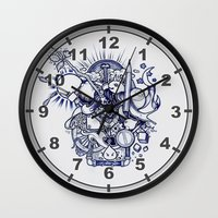doodle Wall Clocks featuring Doodle by Puddingshades