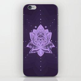 Gentle Pastel Violet Lotus Flower iPhone Skin