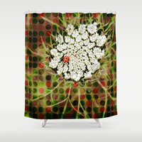 ladybug Shower Curtains featuring Ladybug by Artistic Home Decor