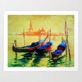Golden Evening in Venice Art Print