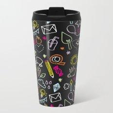 chalkboard doodles Metal Travel Mug