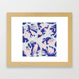 Miami Leaves Framed Art Print