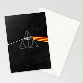 the darkside of the deathly hallows Stationery Cards