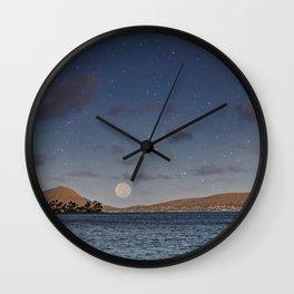 Full Moon Rising Over Maunalua Bay. Wall Clock