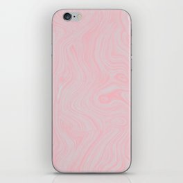Modern abstract pink gray watercolor brushstrokes pattern iPhone Skin
