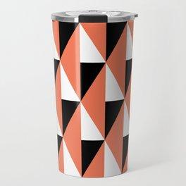 Geometric Pattern #78 (salmon pink triangles) Travel Mug