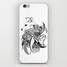Inking Fox and Bird iPhone & iPod Skin