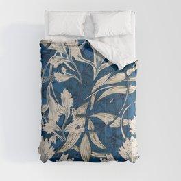 Celery - Classic Blue Art Nouveau Comforters