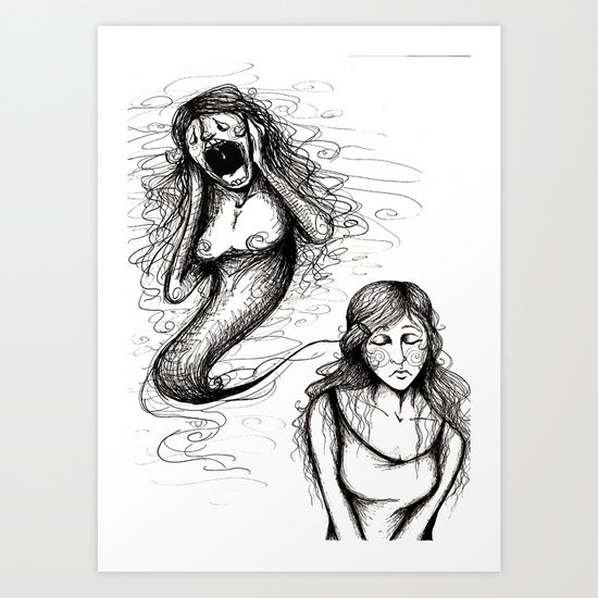 That whole anxiety and shit Art Print