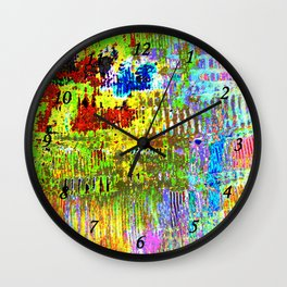 Yellow Lines S41 Wall Clock