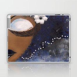 Blue and White Sassy Girl  Laptop & iPad Skin
