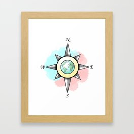 International Compass Framed Art Print