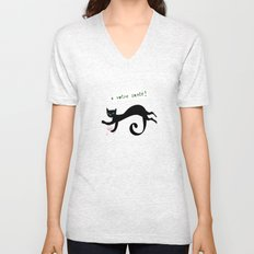 party animals - french cat Unisex V-Neck