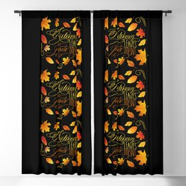 Autumn Leaves, Jesus Doesn't Funny Fall Quote Blackout Curtain