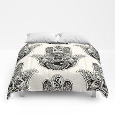 Hamsa Hand Pug Comforters