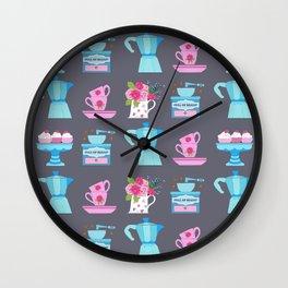 Coffee coffee, coffee pot, moka, espresso, coffee cup, coffee and cake, christmas coffee, coffee mak Wall Clock