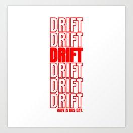 Drift Drifting Drifter Tuning Car Gift Art Print
