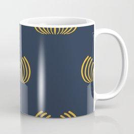 Navy blue art deco pattern Coffee Mug