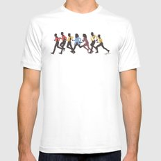 Away Mission: The Next Generation Mens Fitted Tee White MEDIUM