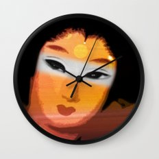 Digital Geisha II Wall Clock