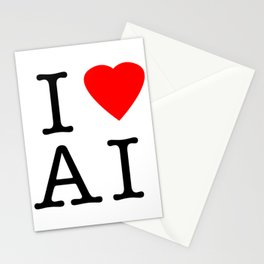 I love Artificial Intelligence NY Parody Stationery Cards