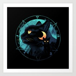 Puss the Devil Cat Art Print