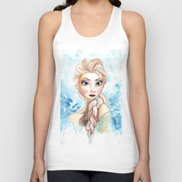 elsa Tank Tops featuring elsa by mejony