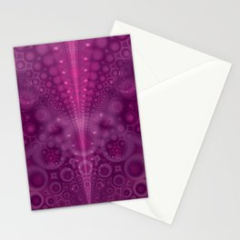 Magenta Abstract Pattern Stationery Cards