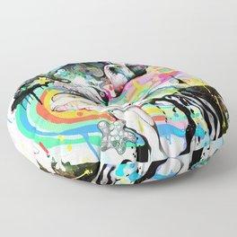 Ink Fight Colors Floor Pillow