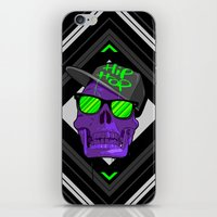 hip hop iPhone & iPod Skins featuring Hip Hop 4 life by Mike Karolos