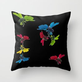 A fig tree dancing in the dark Throw Pillow
