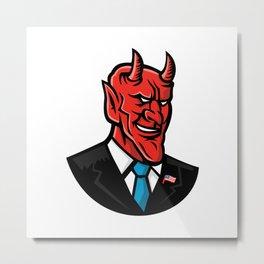 Devil American Businessman Mascot Metal Print
