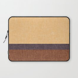 Simple Stripe Abstract with Burlap Pattern Laptop Sleeve