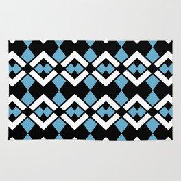 Zig Zag Pattern Blue Rug