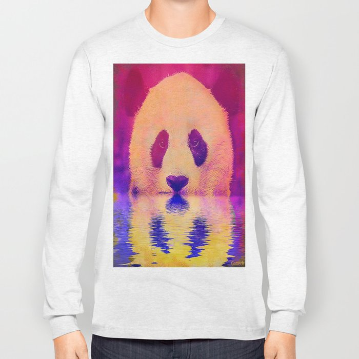 Pink Panda Long Sleeve T-shirt