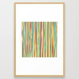 Colored Lines #6 Framed Art Print