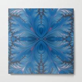 Winter Dusk Mirrored - Fractal Art Metal Print