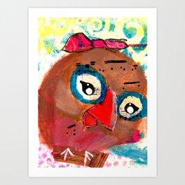 Beau - Quirky Bird Series Art Print