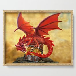Red Dragon's Treasure Chest Serving Tray